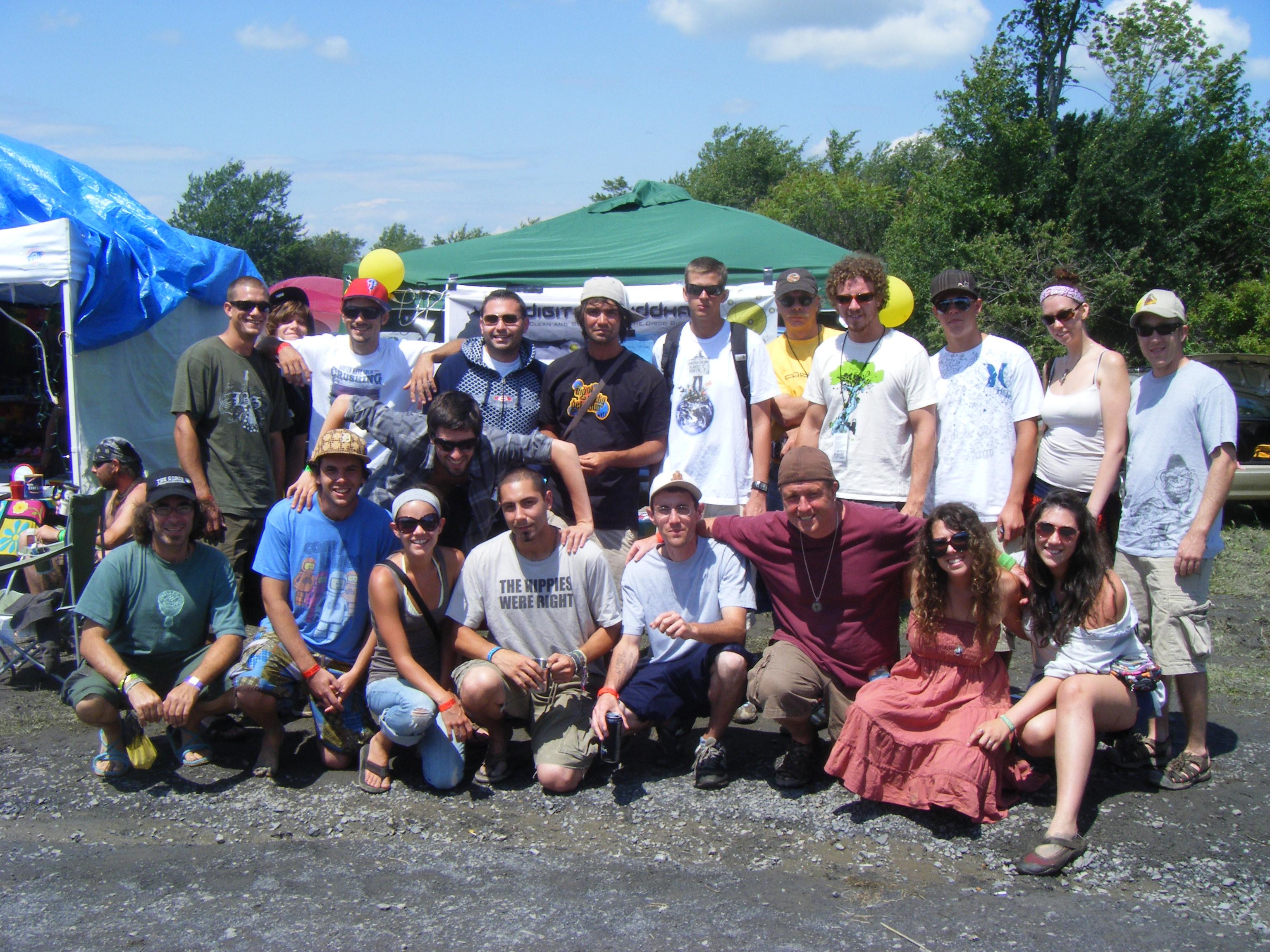 Digital Buddhas Meeting at Camp Bisco 8