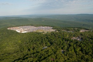 Aerial shot of Wakarusa 2012 - (c) James Allison