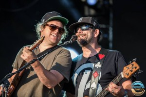 Jon Gutwillig and Marc Brownstein, Home Again during Umphreys. Photo by aLIVE Media