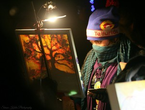 Live painting graced the land.