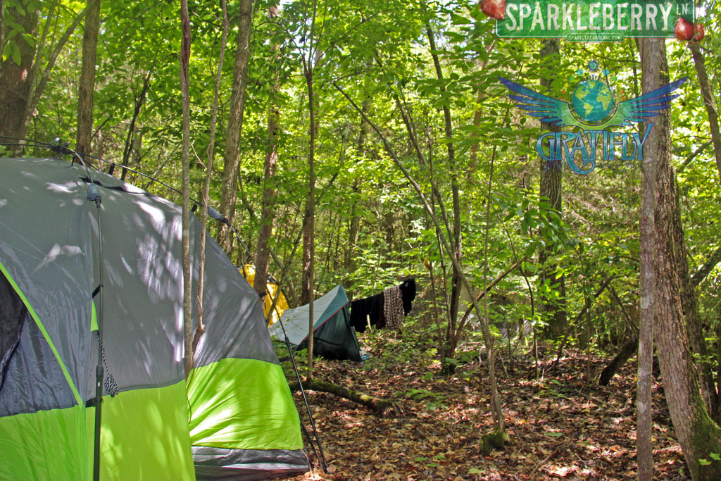 Camping in the woods at Gratifly - By Christina Sava